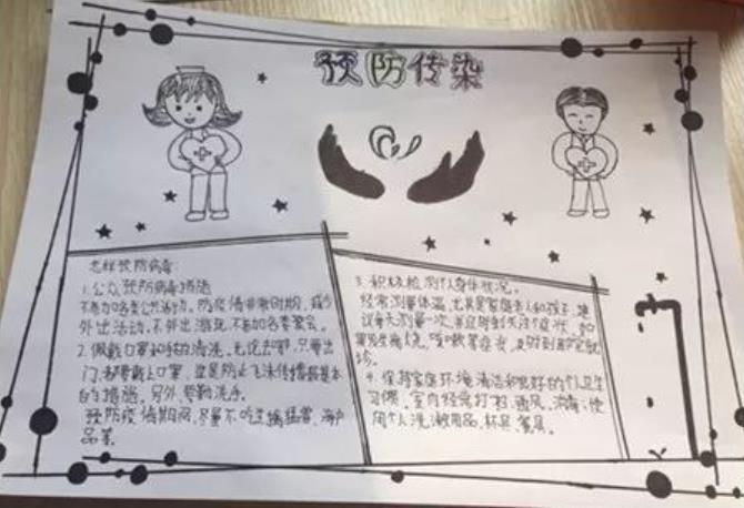 小学生冠状病毒手抄报_众志成城防控疫情手抄报图片