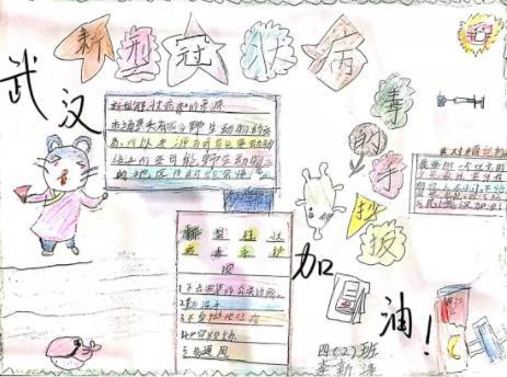小學生新型冠狀病毒的手抄報簡單