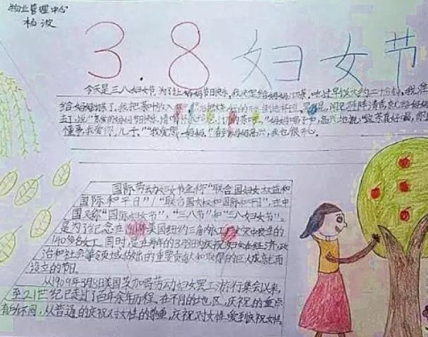 妇女节手抄报简单好看_庆三八手抄报图片
