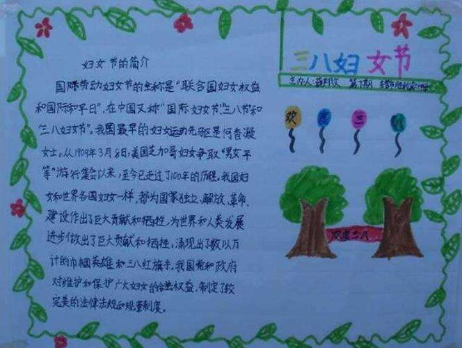 庆祝三八妇女节手抄报_小学生妇女节手抄报