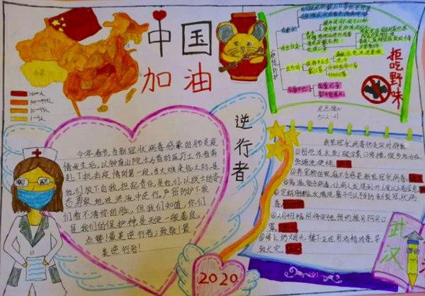 2020小学生关于抗击病毒手抄报精选