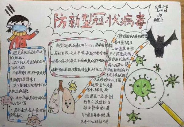 2020抗击病毒小学生寒假手抄报精选