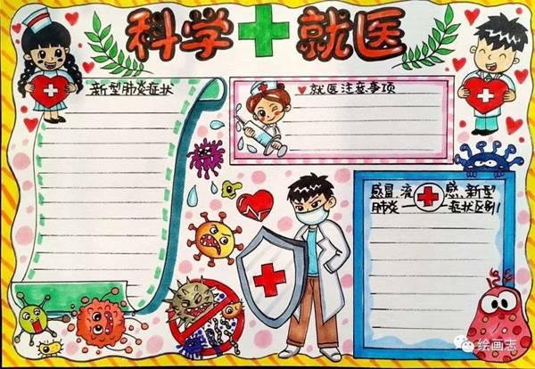 2020防控疫情小学生简单漂亮的手抄报