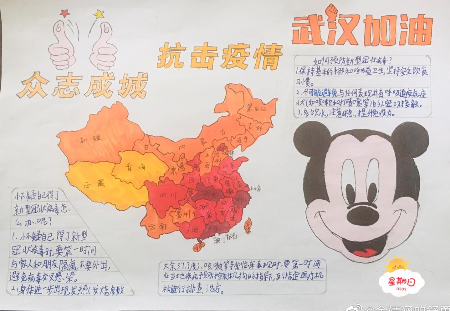 2020新型冠狀病毒手抄報_預防病毒手抄報內容