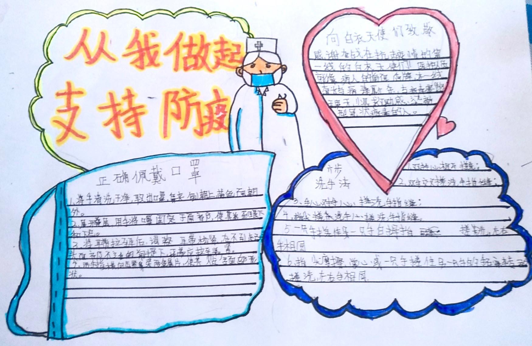 2020为武汉加油的手抄报_预防疾病手抄报简单又漂亮
