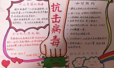 2020预防冠状病毒手抄报_有关病毒的手抄报