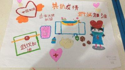 关于武汉疫情手抄报小学生-共抗疫情,武汉加油