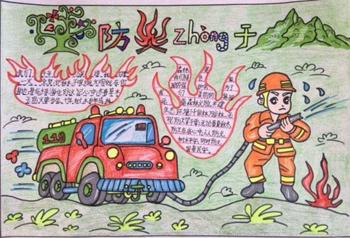 以森林防火为主题的手抄报