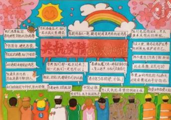 抗疫情手抄报2020年模板_小学生为疫情加油手抄报