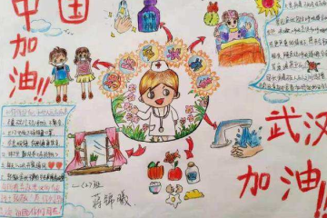 抗疫情绘画图片_武汉加油抗疫情手抄报内容