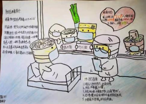 抗击疫情中国加油手抄报创意模板