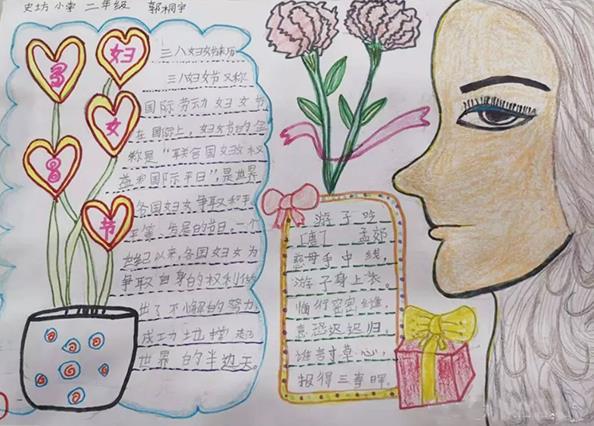 小学生妇女节手抄报简单漂亮作品
