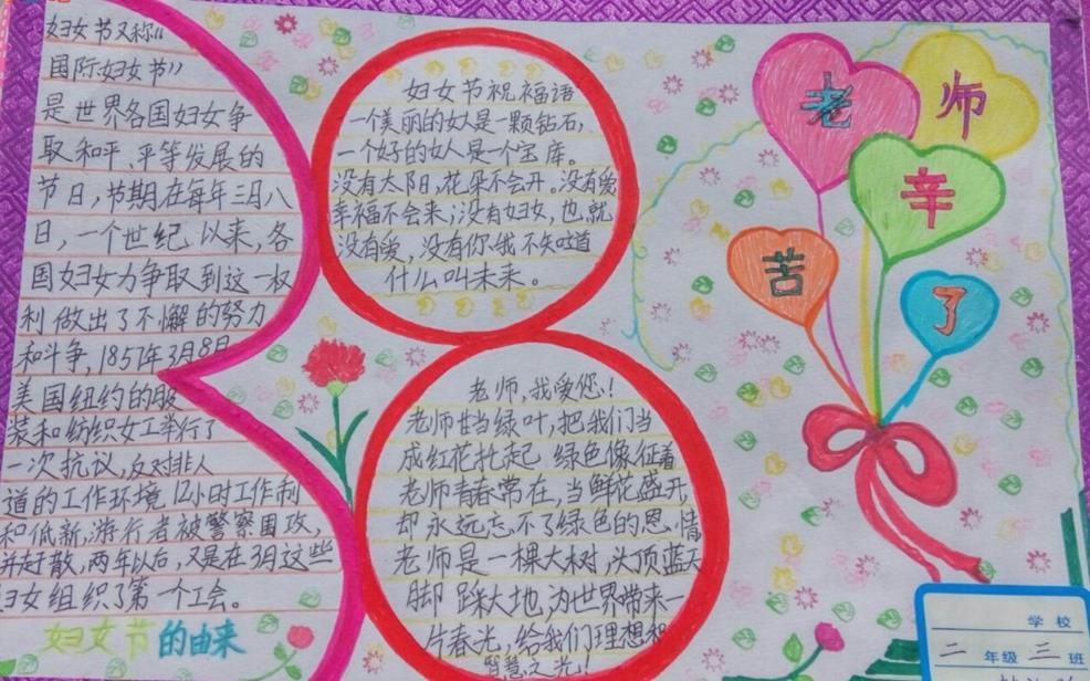 3月8日女人节手抄报简单漂亮