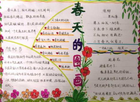 春天的图画手抄报小学生优秀作品