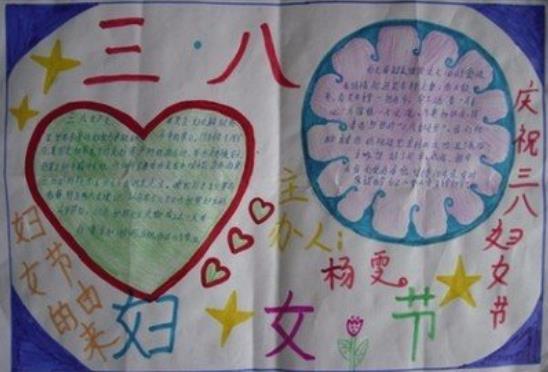 三八妇女节给妈妈的祝福手抄报