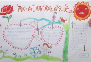 三八妇女节献给妈妈的爱手抄报图片