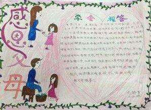 妇女节报答妈妈手抄报设计模板