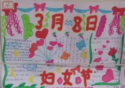 3月8日妇女节感恩母亲手抄报