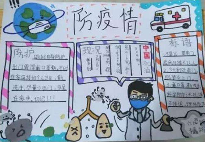 2020冠状病毒手抄报_防疫情手抄报内容