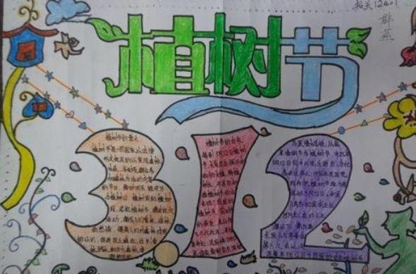 3.12植树节爱绿护绿手抄报绘画创意可爱