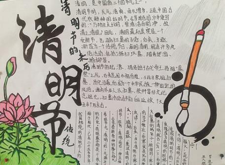 清明手抄报_清明节手抄报漂亮图片