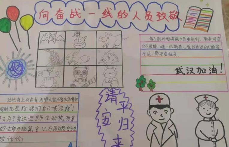 新型冠状病毒疫情主题小学生手抄报