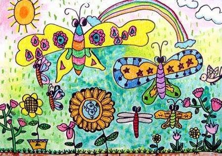 小学生关于春的绘画简单漂亮