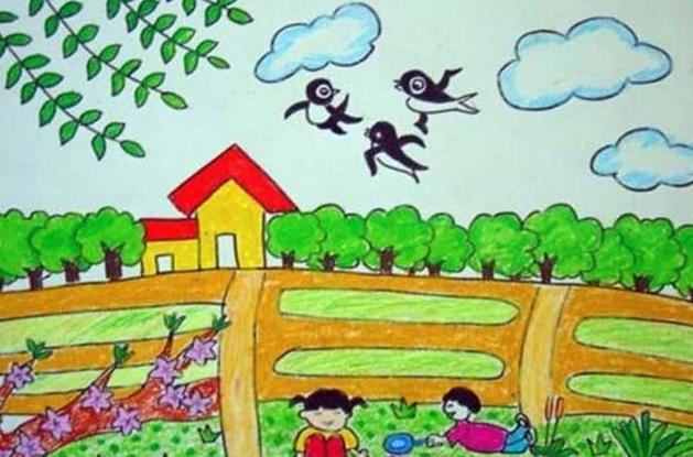 萬物復蘇的春天兒童繪畫作品
