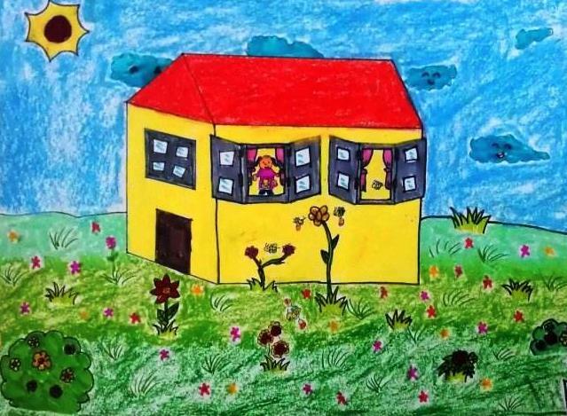 万物复苏的春天儿童绘画作品