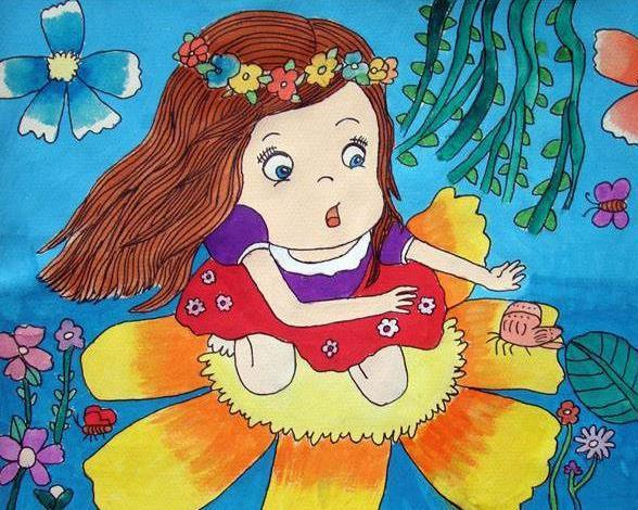 春天主题拟人化儿童绘画图集_美丽的春天绘画