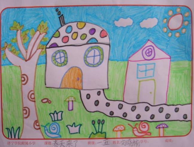 春天来了主题一年级绘画大全