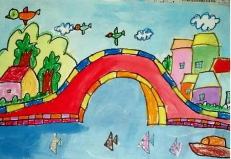 美丽的春天小学生绘画图片