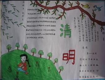 清明节传统习俗手抄报小学图片