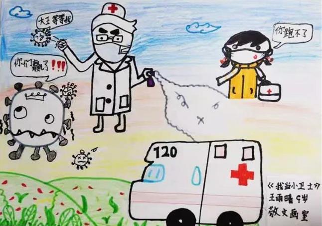 抗击新型冠状病毒的白衣天使绘画大全