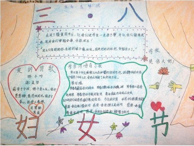 小学生画三八妇女节主题手抄报