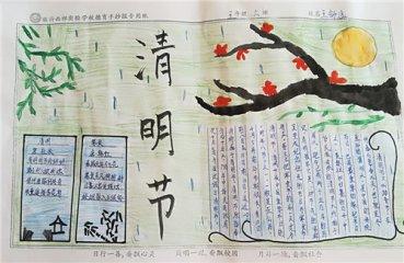 清明节手抄报画画图片_小学生清明节手抄报图片简单