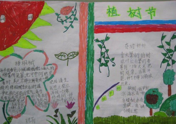 植树节简单又好看的手抄报_植树节的手抄报图片