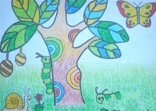 儿童春天风景画