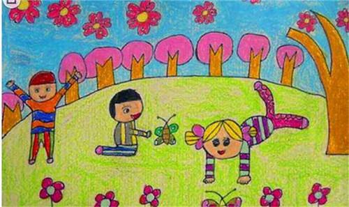 2020春天彩色风景画_彩铅春天的风景画