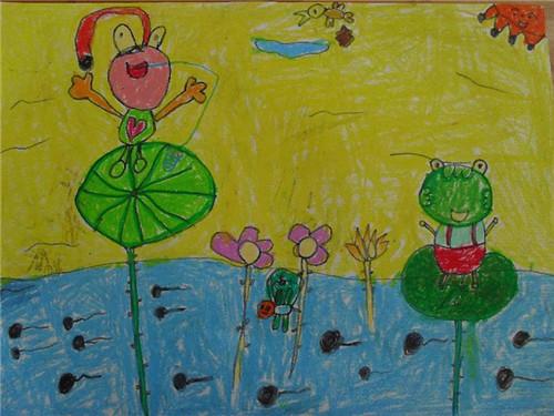 儿童春天花风景画_春天的一幅风景画水彩
