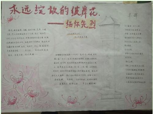 2020清明祭英烈共铸中华魂手抄报大全
