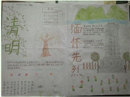 2020清明节祭英烈手抄报搜索图片_清明祭英烈手抄报图片六年级