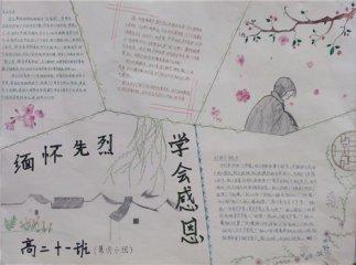 2020小学生清明节手抄报内容资料_清明节手抄报图片资料