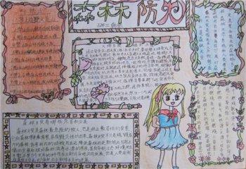 2020小学生森林防火手抄报_小学生森林防火简单画