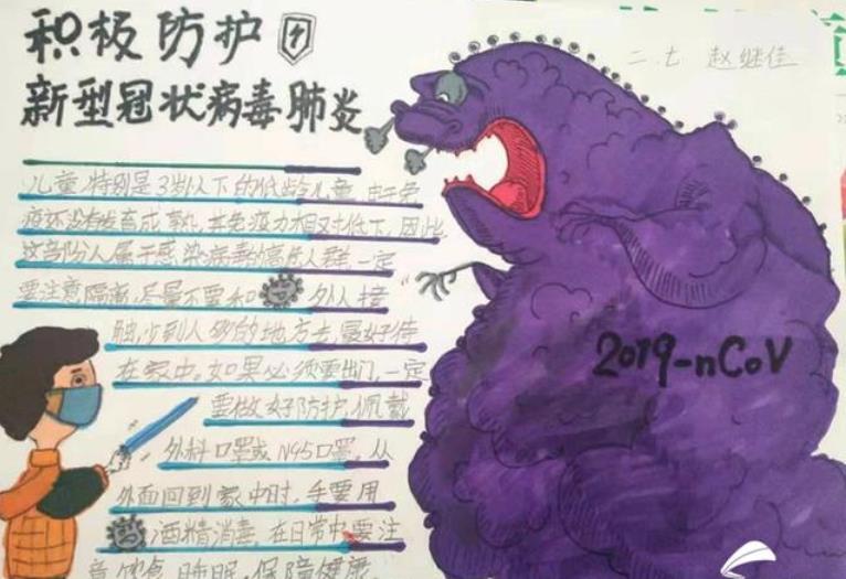 战疫必胜中国加油手抄报创意绘画