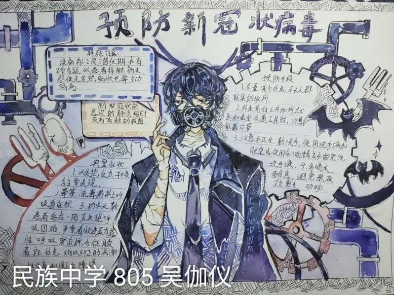 武汉加油向疫情中的英雄致敬手抄报