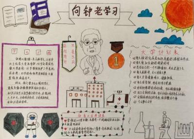 众志成城抗击病毒手抄报绘画2020