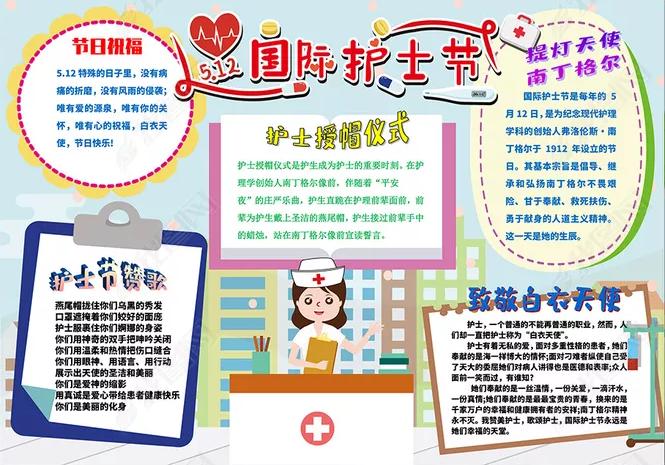2020感恩护士节手抄报_感恩抗疫医护人员手抄报