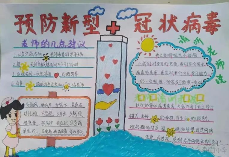 预防新型冠状病毒手抄报_病毒防疫战手抄报