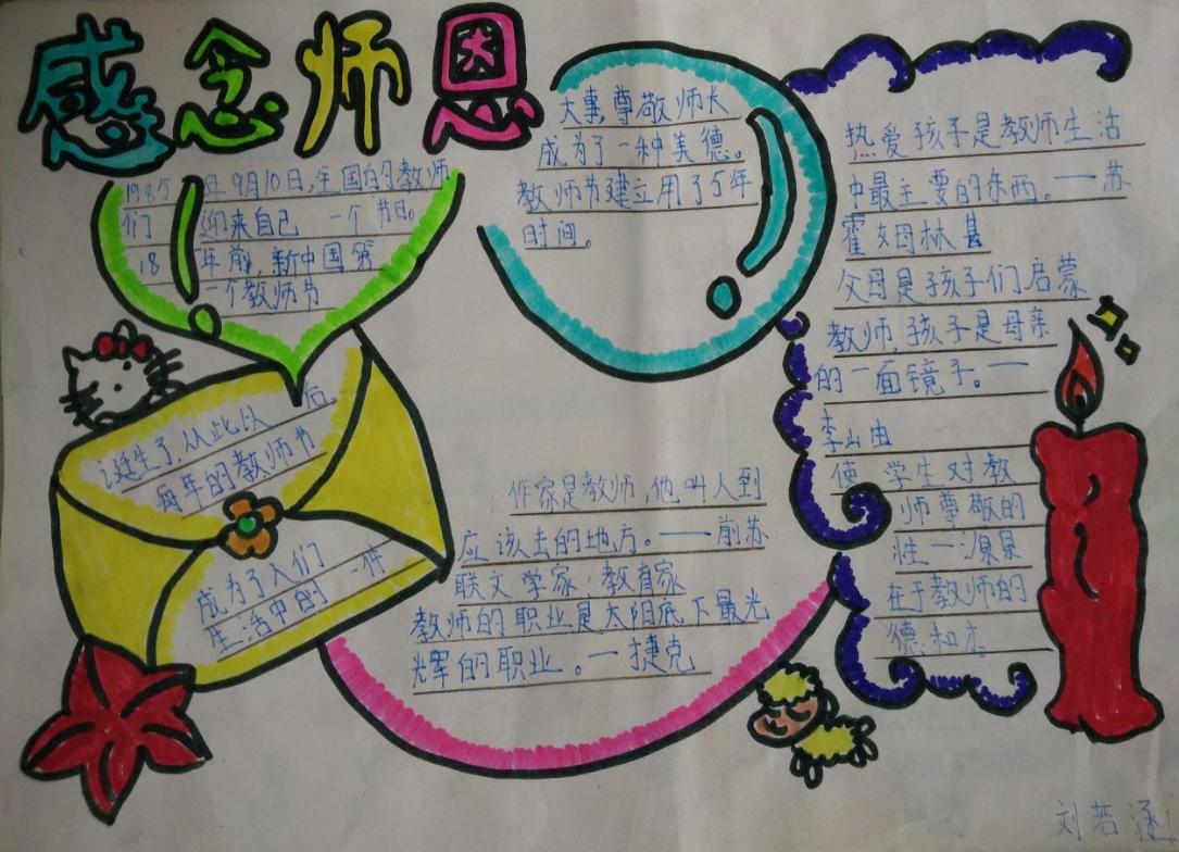 教师节感念师恩手抄报_师恩难忘手抄报
